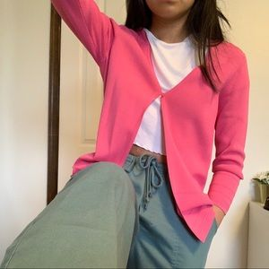 Loft Cardigan One Button (Pink)